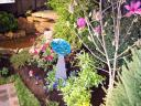 Water Feature and Colorful Garden at 2012 Flower and Patio Show