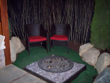 Modern Style Fire Pit in our 2013 Flower and Patio Show Garden