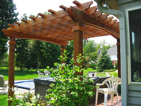 4 post pergola progressive lawnscaping. Black Bedroom Furniture Sets. Home Design Ideas