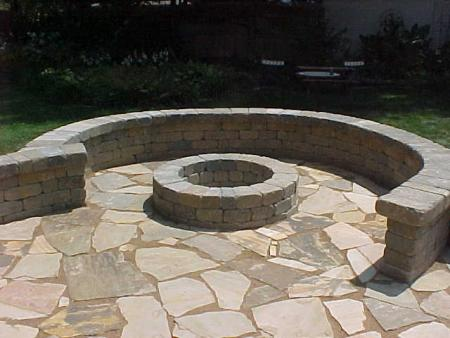Belgard Weston Seating Wall Around Fire Pit - Belgard Weston Seating Wall Around Fire Pit Progressive Lawnscaping