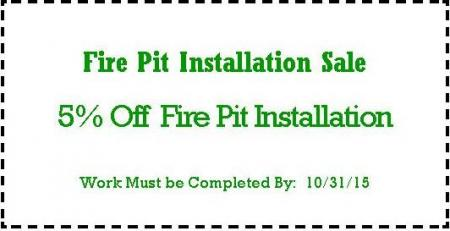 Fire Pit Installation Coupon