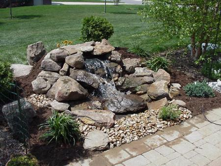 Pondless waterfall progressive lawnscaping for Design of pondless waterfalls