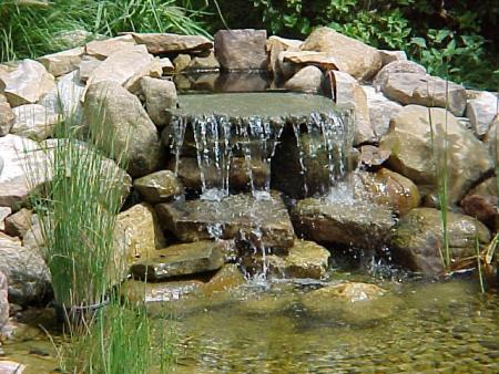 Waterfall Into Pond Progressive Lawnscaping